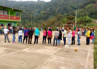 Dinámica de liderazgo y trabajo en equipo Corinto, Cauca.